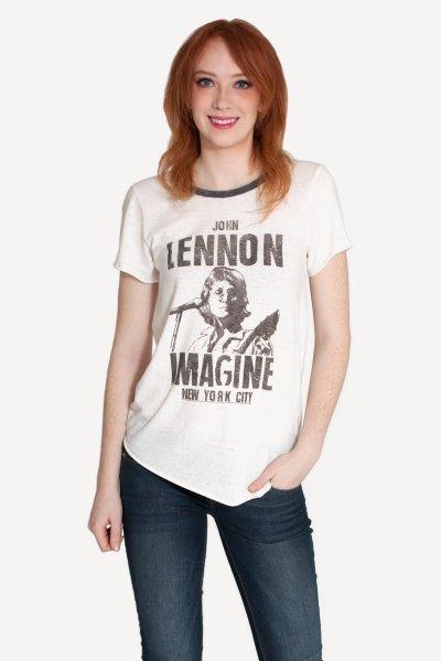 John Lennon Imagine Raglan by Junk Food