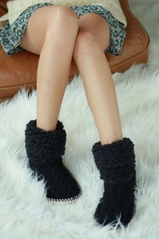 Cable Knit Bootie Slipper by Do Everything In Love