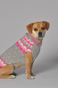 Pink Alpine Dog Sweater by Chilly Dog