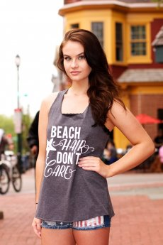 Beach Hair Don't Care Tank Top by Popular Basics