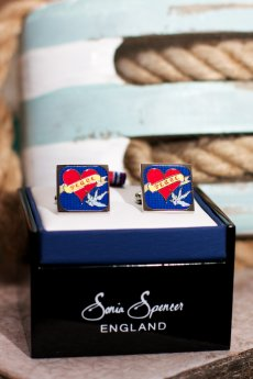 Peace And Love Cuff Links by Sonia Spencer England