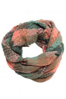 Fringe Plaid Infinity Scarf by Love of Fashion