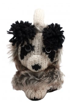Patches The Panda Earmuffs by Delux Knitwits