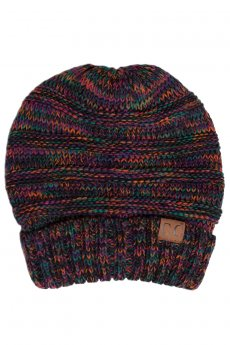 Multicolor Slouchy Knit Beanie by C.C.