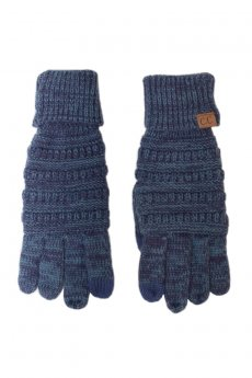 Two Tone Smart Tip Gloves by C.C.
