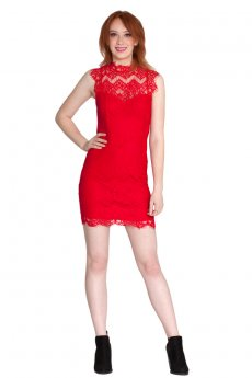 Scalloped Lace Dress by She and Sky