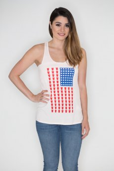 Beer Pong American Flag Tank Top by Bear Dance
