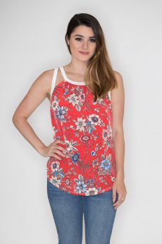 Floral Cutout Tank by Cherish