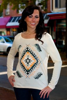 Tribal Print Top by Ya Los Angeles