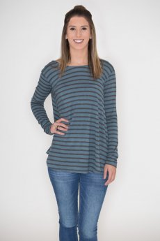 Bow Back Striped Top by Cherish