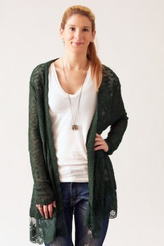 Open Lace Knit Cardigan by Umgee USA