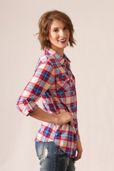 Red And Blue Plaid Button Down by Passport