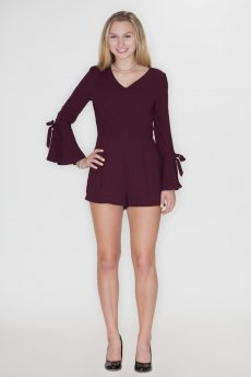 Bell Sleeve Romper by She and Sky