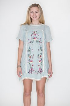 Embroidered A-Line Dress by Umgee USA