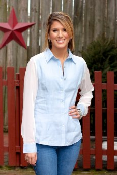Duo Button Down Blouse by Timing