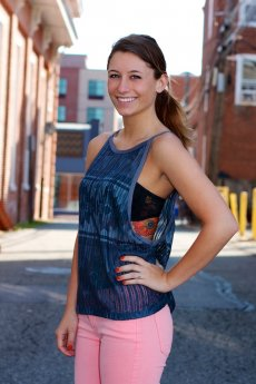 Aztec Print Tank Top by Double Zero