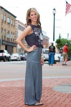 Jersey Maxi Skirt by Promesa