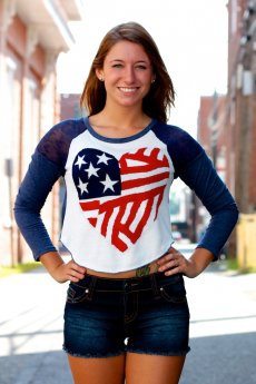 American Flag Heart Sweater by The Classic