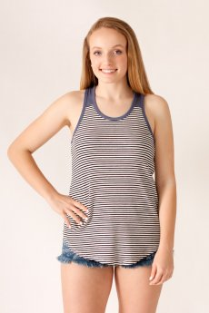 Striped Ribbed Tank Top by Cherish