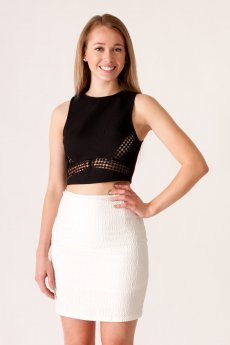 Textured Crop Top by She and Sky