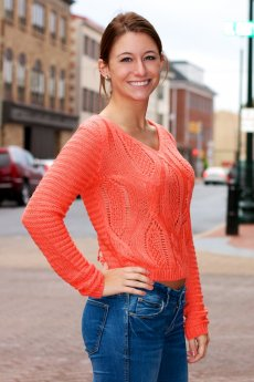 Lace Up Back Sweater by The Classic