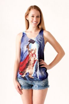 Thor Cat Tank Top by Bear Dance