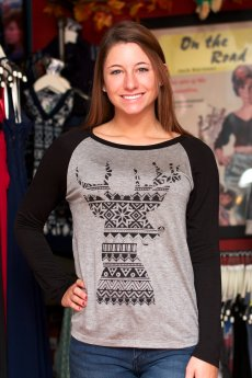 Reindeer Raglan Top by Triumph