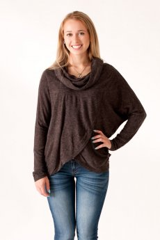 Cowl Neck Top by She and Sky