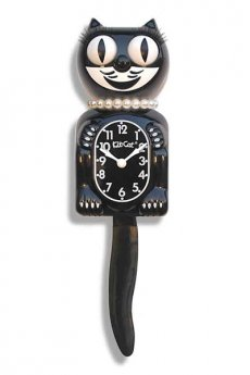 Classic Black Lady Kit-Cat Clock