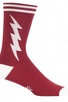 Crimson And White Super Hero Socks by Sock It To Me