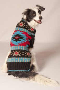 Navajo Shawl Collar Dog Sweater by Chilly Dog
