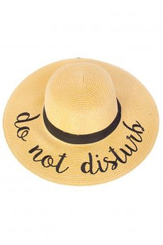 Do Not Disturb Straw Hat by C.C.