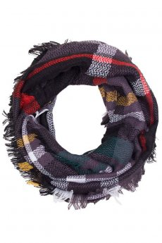 Black Plaid Infinity Scarf by Life Is Beautiful