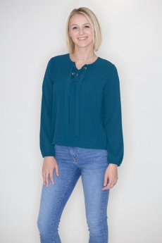 Lace Up Grommet Top by Timing