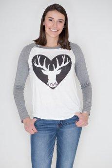 Reindeer Love Raglan Tee by Triumph