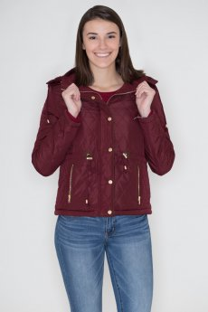Quilted Jacket With Hoodie by Love Tree