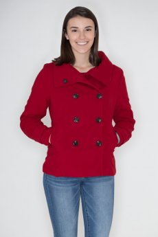 Double Breasted Peacoat by Love Tree