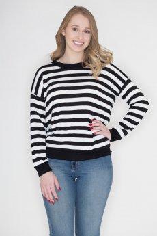 Black And White Stripe Top by Cherish