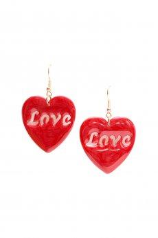 Heart Love Earrings by New Fashion