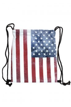 US Flag Drawstring Bag by Viola