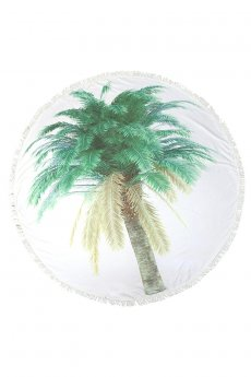 Palm Tree Beach Towel by Do Everything In Love