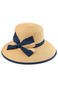 Ribbon Bow Straw Hat by C.C.