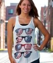 American Flag Sunglasses Tank Top by The Classic