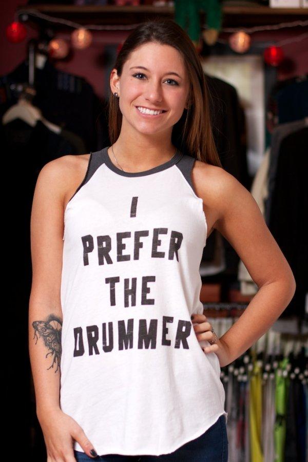 48c17c1dc1ddb I Prefer The Drummer Raglan Tank Top by Junk Food