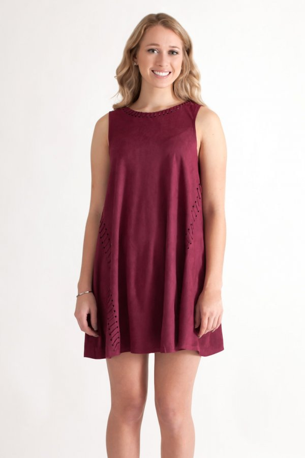 bd0d01e73cc Suede Shift Dress by She and Sky