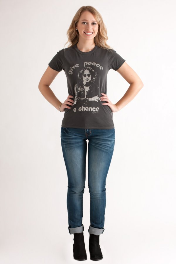 Junk Food Give Peace A Chance Tee