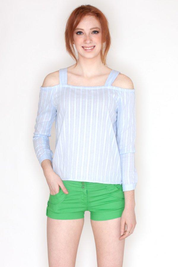 19fa1a654e18f2 Cold Shoulder Top by Blue Blush