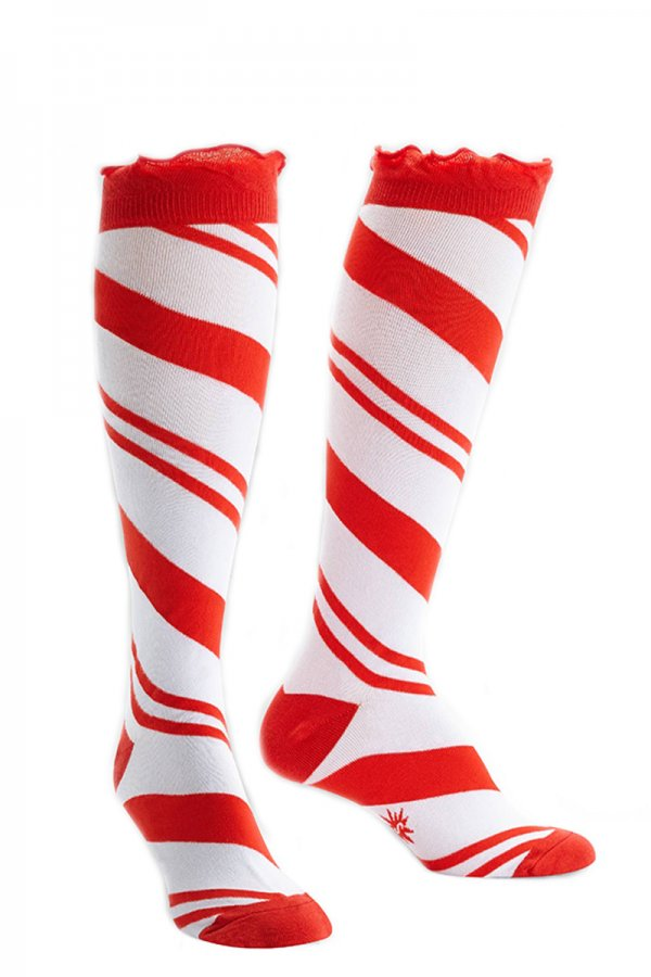26d6b1ece Candy Cane Knee High Socks by Sock It To Me