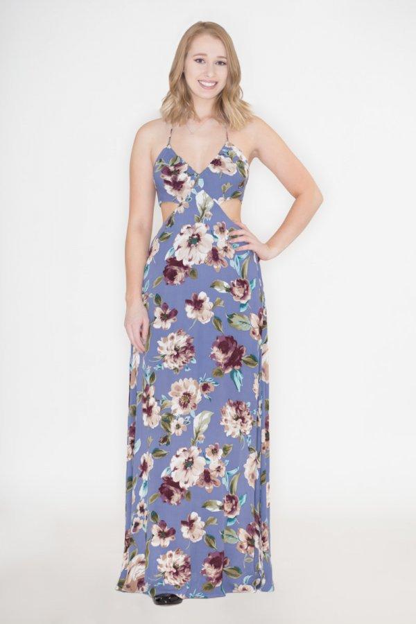 8995e4001e1e Floral Cutout Maxi Dress by Charme U
