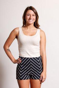 Chevron Stripe Shorts by Ya Los Angeles